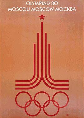 1980年莫斯科奥运会海报