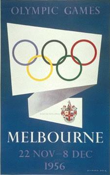 1956年墨尔本奥运会海报