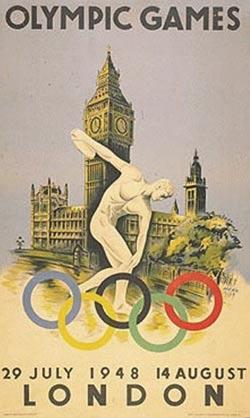 1948年伦敦奥运会海报