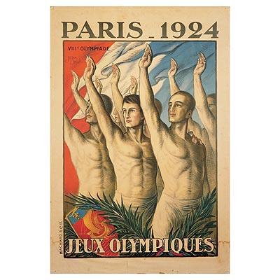 1924年巴黎奥运会海报