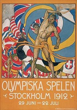 1912年斯德哥尔摩奥运会海报